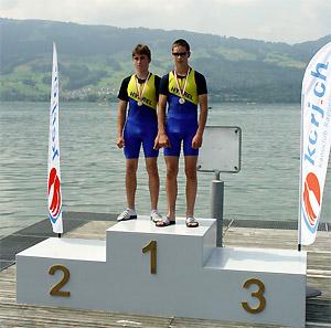 Die Romanshorner Pablo Bäggli und Daniel Bolliger (rechts) siegten an den Kanu-Schweizermeisterschaften über die Langstrecke.